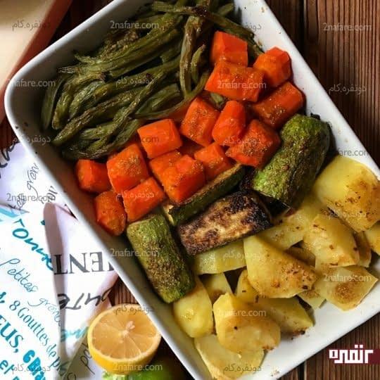 خوراک سبزیجات طعم دار