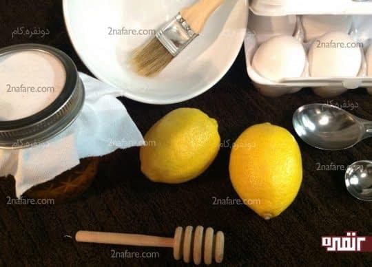 استفاده از سفیده تخم مرغ و لیمو برای درخشان کردن موها