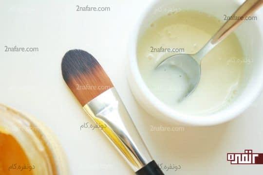 شیر خام و عسل پاک کننده طبیعی آرایش