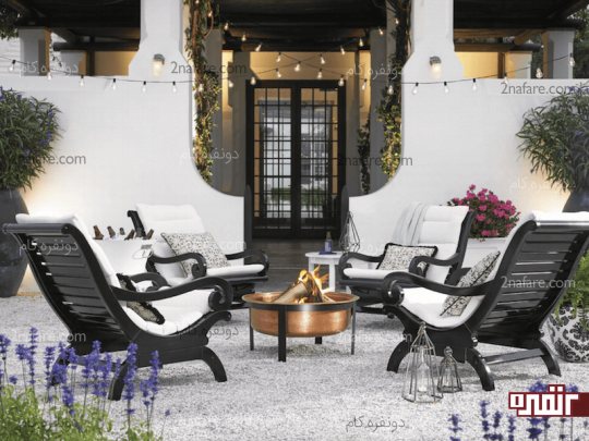 طراحی فضای نشیمن در حیاط خلوت