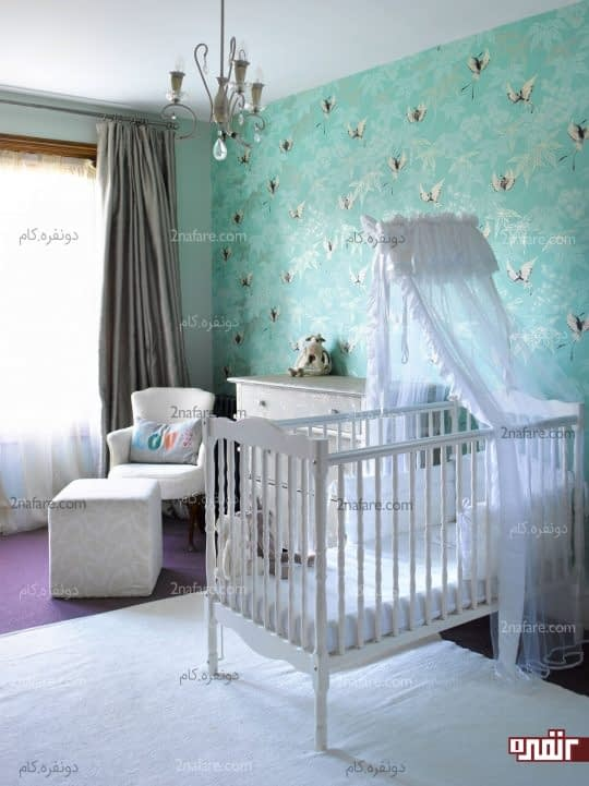 طرح فرشته های رقصان برای کاغذ دیواری اتاق کودکان