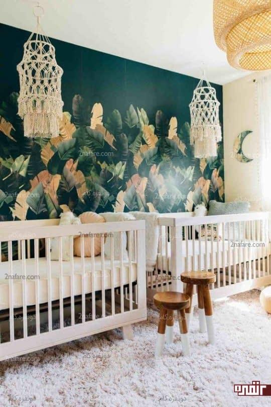 فرش خزدار سفید برای اتاق کودک