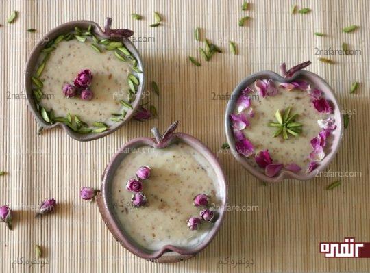 فرنی گل محمدی