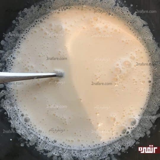 مخلوط کردن شیر