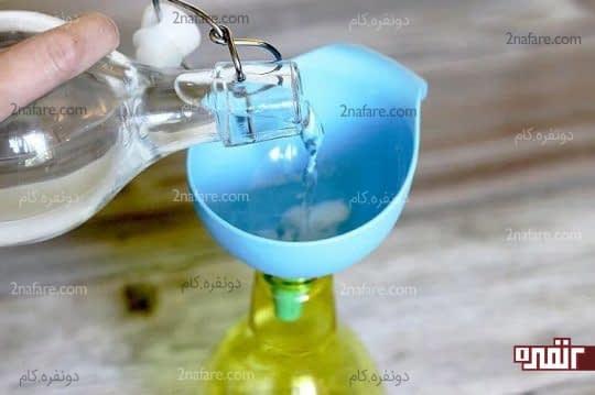 مواد رو داخل بطری مخلوط کنید