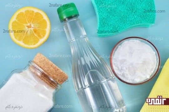 مواد طبیعی برای ساخت شوینده خونگی