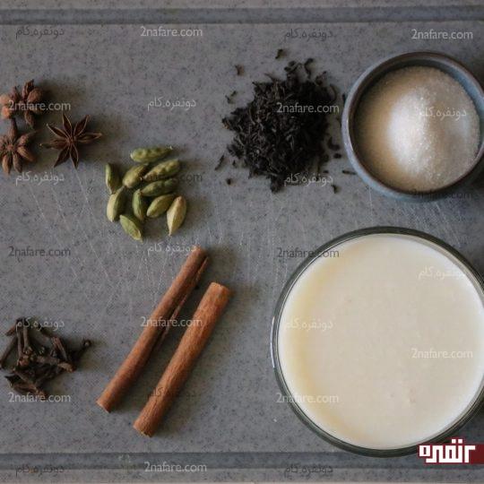 مواد لازم برای تهیه شیرچایی