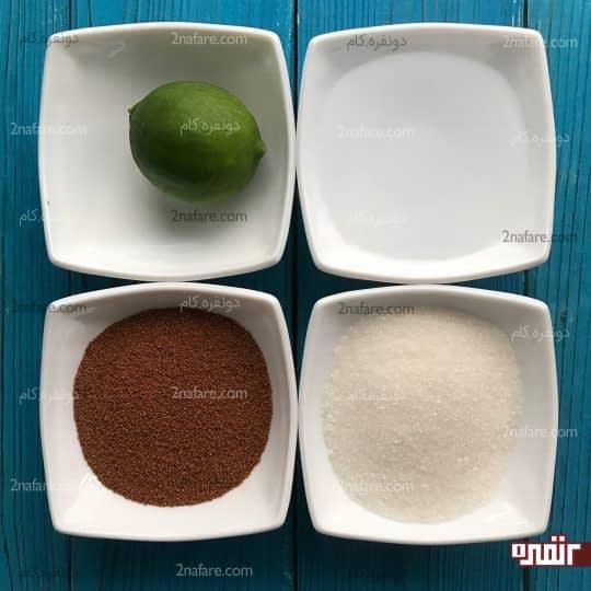 مواد لازم برای تهیه نوشیدنی خاکشیر و لیمو