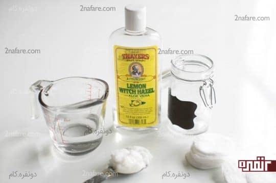 مواد لازم برای تهیه پاک کننده طبیعی آرایش