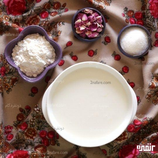 مواد لازم برای تهیه گل پالدو