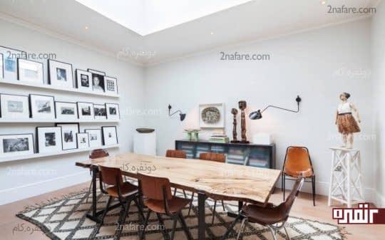 نمایش تابلوها و دکوری های زیبا در خانه اجاره ای بدون نصب روی دیوار