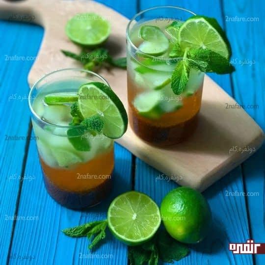 نوشیدنی خاکشیر و لیمو