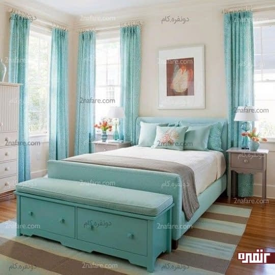 کاربرد رنگ آبی در اتاق خواب