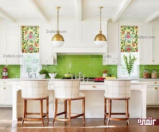 کاربرد رنگ سبز در آشپزخانه