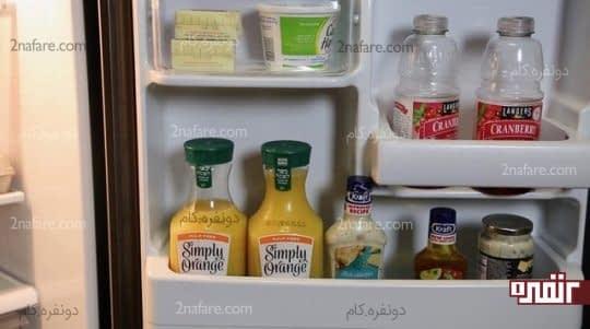 درب یخچال مناسب برای موادی که در دمای گرم تر قابل نگه داری می باشند