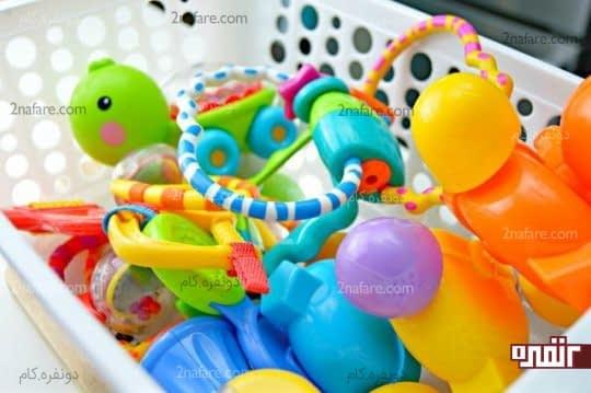 ضدعفونی کردن اسباب بازی کودکان با روش خانگی