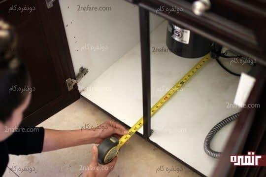 اندازه گیری ابعاد درون کابینت