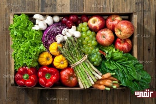 استفاده از سبزیجات و میوه های کم کالری در رژیم غذایی کودک