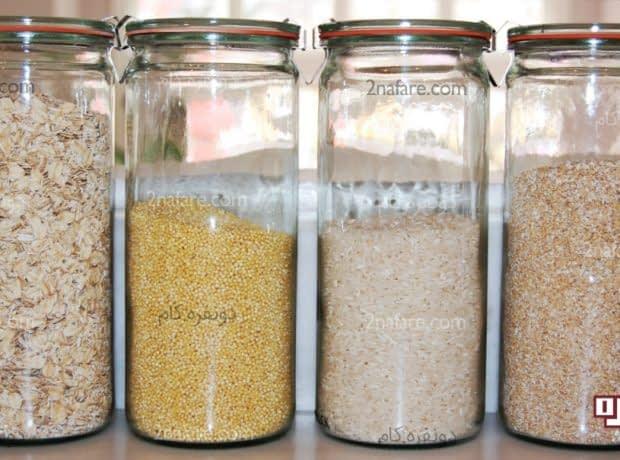 نگهداری مواد غذایی خشک در ظروف بسته