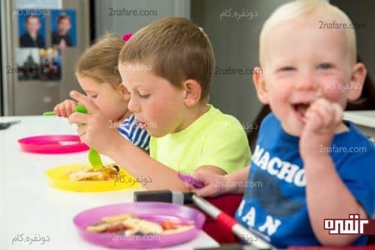 میزان کالری مصرفی توصیه شده برای مصرف روزانه کودکان