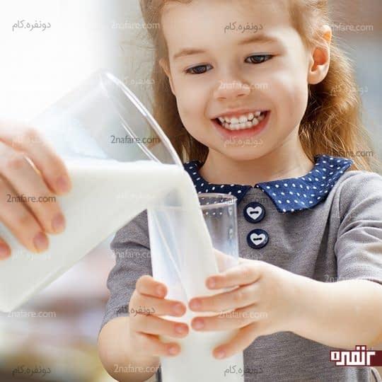 میزان لبنیات مورد نیاز کودکان