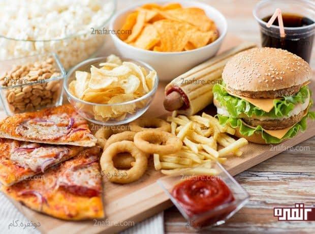 غذاهای شور، چرب و فست فودها