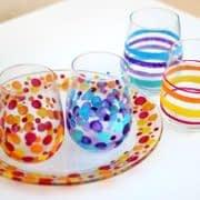 آموزش رنگ کردن ظروف شیشه ای ساده