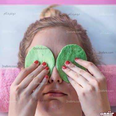 آموزش ساخت ماسک رفع خستگی چشم