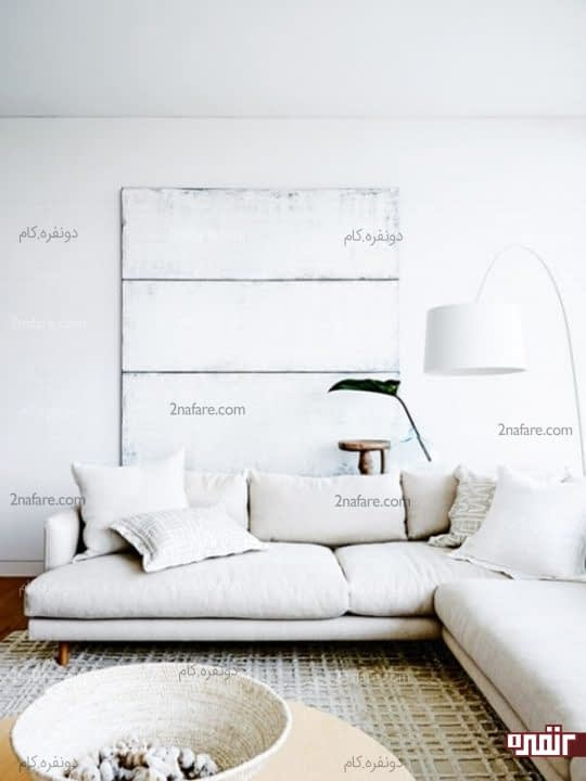 اتاقی ساحلی با دکوراسیون سفید رنگ