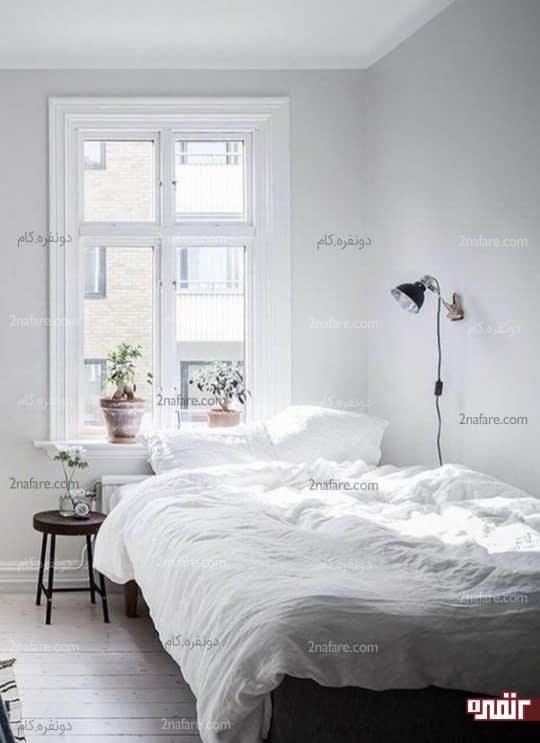 اتاق خواب سفید و راحت