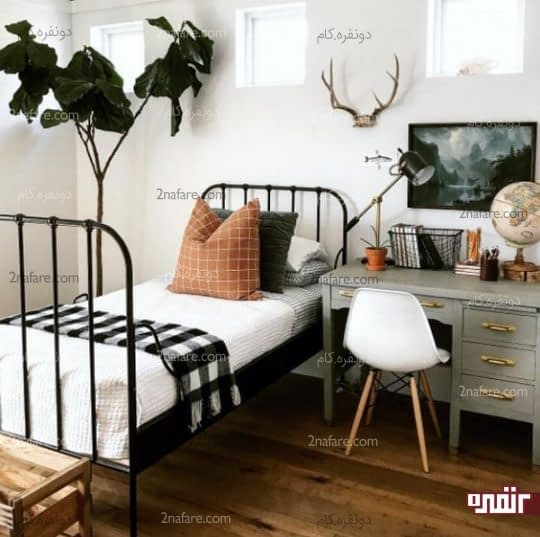 اتاق خواب مهمان با تزیینات ساده و زیبا