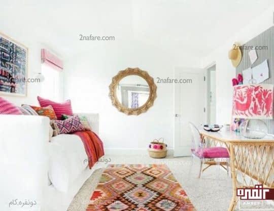 اتاق خواب مهیج با رنگهای صورتی