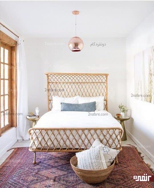 اتاق دلباز برای مهمان با تخت راحت و حذف مبلمان غیر ضروری