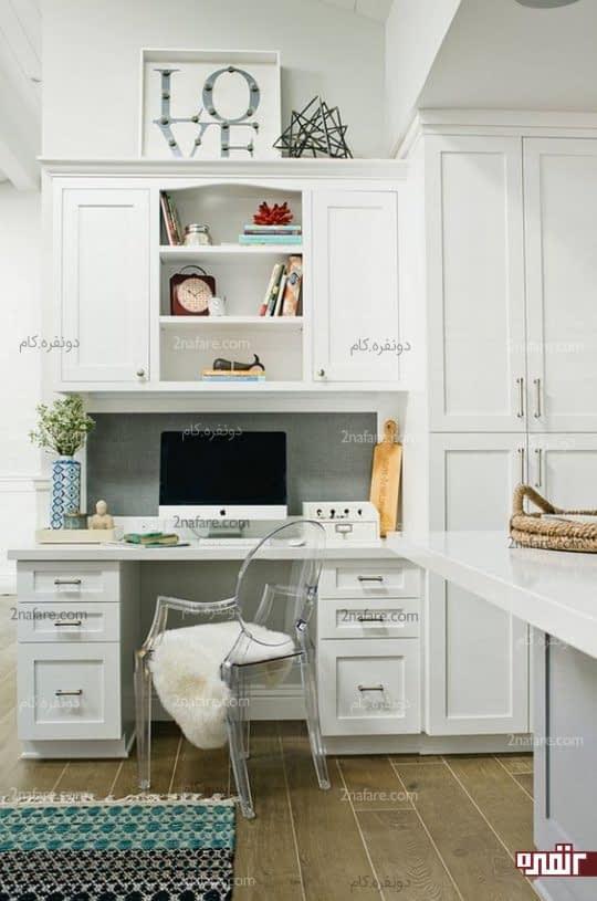 اختصاص بخشی از فضای آشپزخانه به میز کار شما در خانه