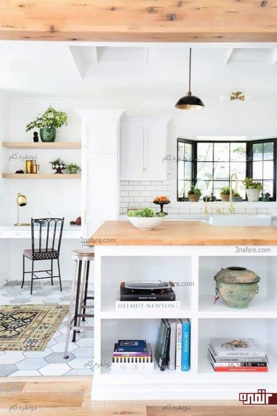 اختصاص فضای کنار آشپزخانه به میز کار