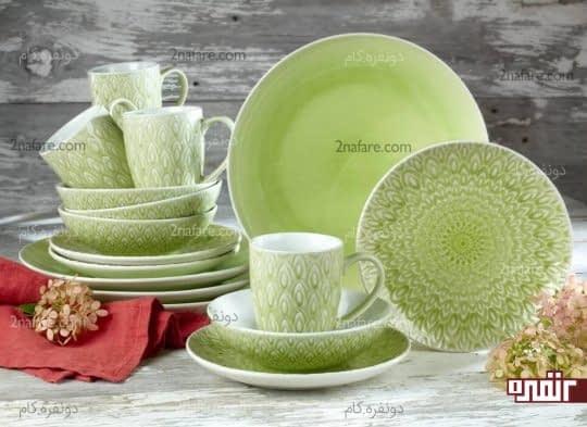 استفاده از ظروف رنگی و زیبا در آشپزخانه ها