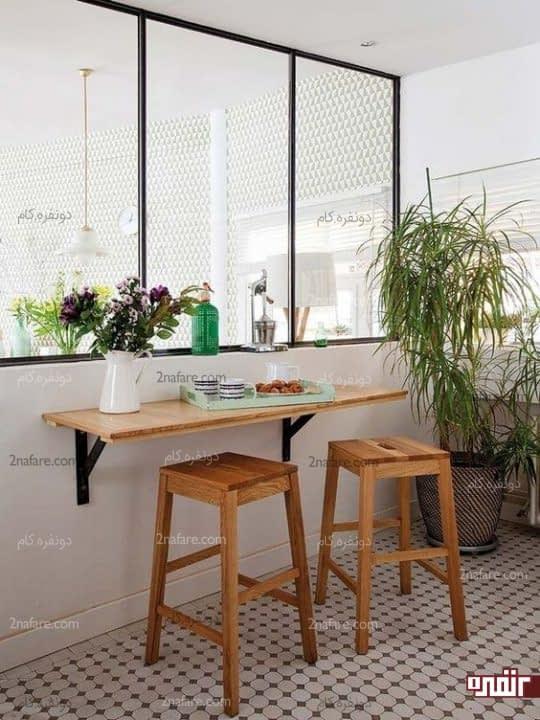 استفاده از گیاهان برای تزیین فضای صبحانه خوری دیواری و دنج