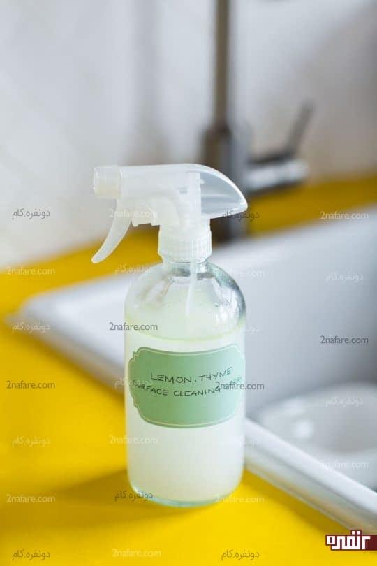 ساخت اسپری تمیز کننده سطوح با رایحه آویشن و لیمو