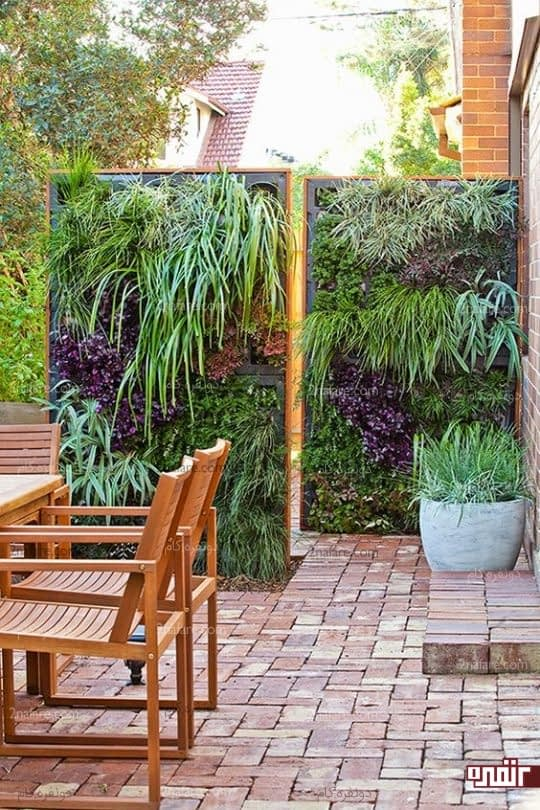 باغچه عمودی در حیاط خلوت