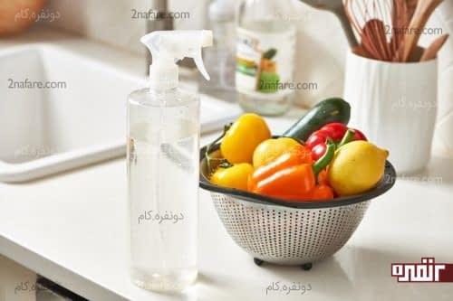 بهترین روش برای شستن میوه ها و سبزیجات