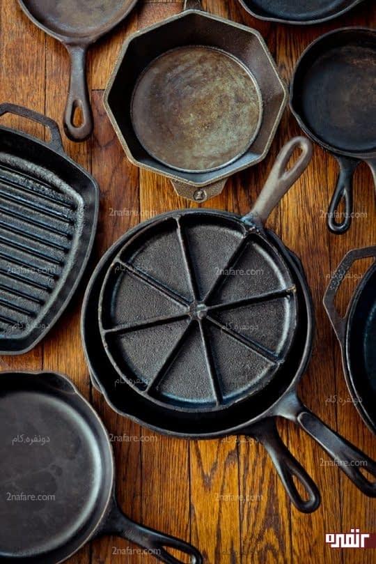 تابه ها و ظروف فلزی و چدنی