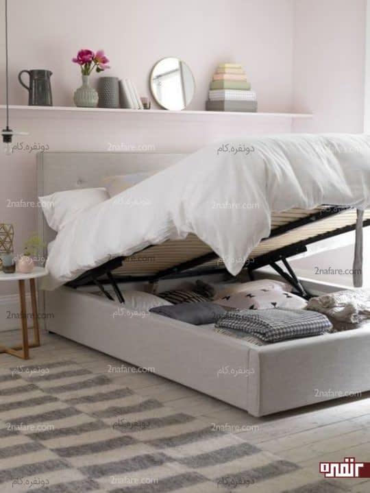 تخت خواب مدرن و چندکاره با فضای ذخیره سازی کافی