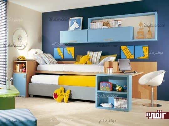 تخت خواب چند کاره در اتاق کودک