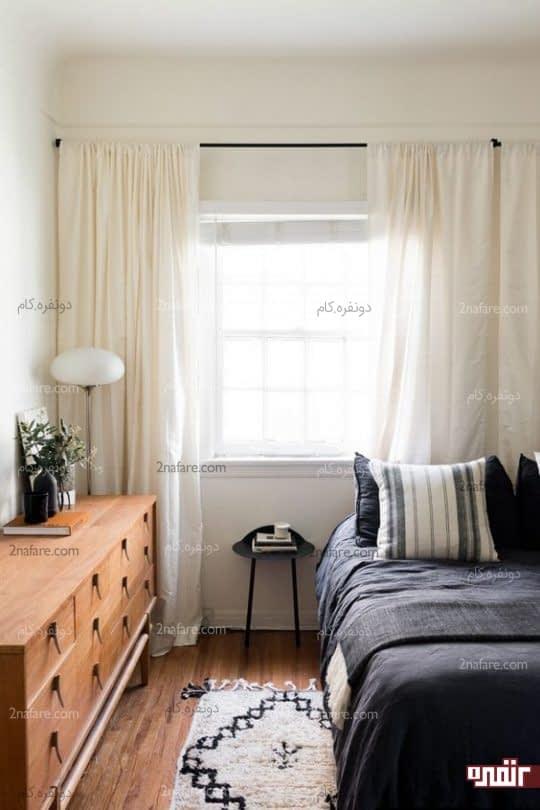 تخت و کمدلباس دو وسیله ضروری اتاق مهمان