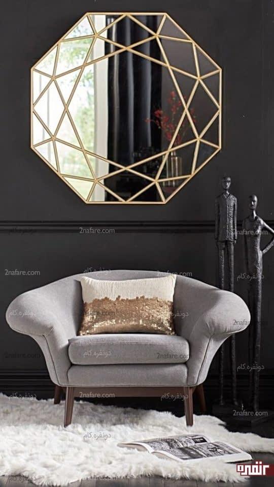 تزیین آینه با نقوش هندسی