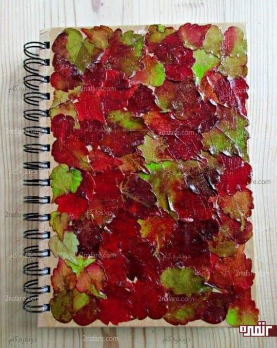 تزیین جلد دفترچه با دکوپاژ