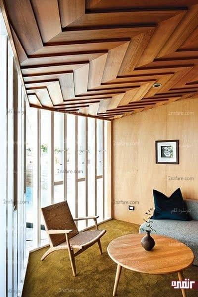 تزیین سقف با چوب