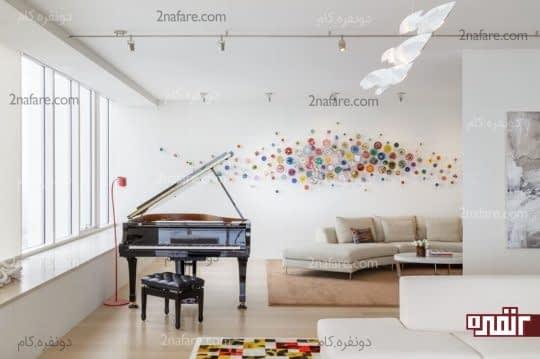 تزیین سه بعدی و رنگارنگ دیوار در دکوراسیون داخلی