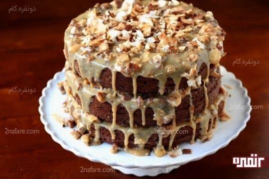 تزیین کیک با شیرعسلی