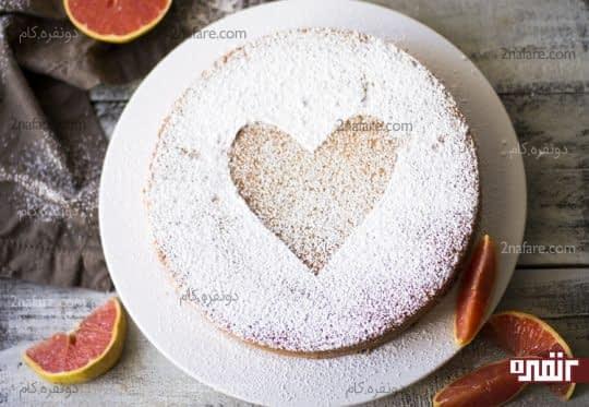 تزیین کیک با پودر قند و شابلون